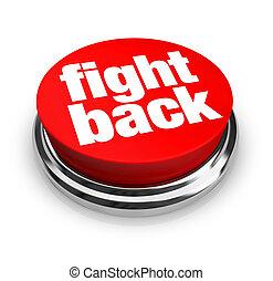 bouton, -, dos, rouges, baston