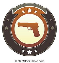 bouton, pistolet, impérial
