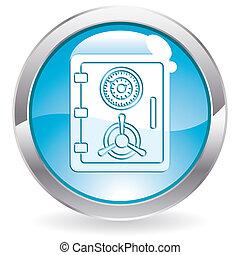 bouton, sûr, icône