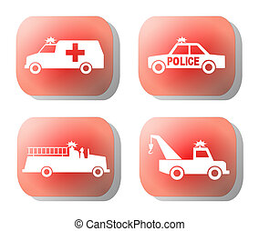 bouton, urgence, illustration