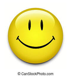 bouton, visage smiley