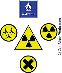 boutons, avertissement