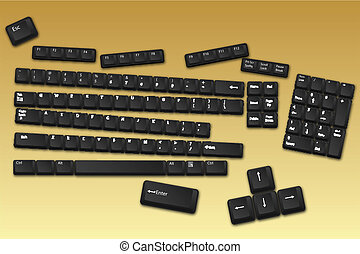 boutons, clavier