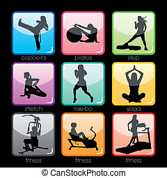 boutons, ensemble, fitness