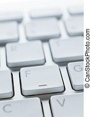 boutons, fin, ordinateur portable, haut, clavier