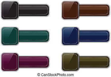 boutons, lustré