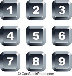 boutons, nombre