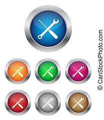 boutons, paramètres