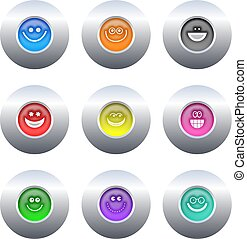 boutons, smilie