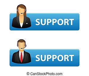 boutons, soutien
