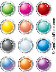 boutons, vecteur, multicolore