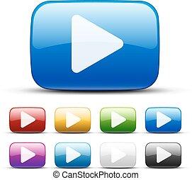 boutons, vidéo