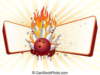 bowling, flammes