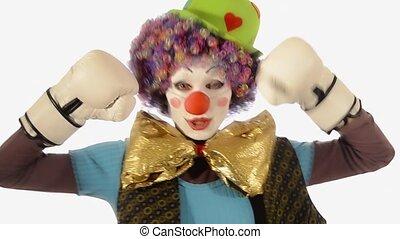 boxe, clown