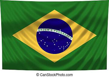 brésil, drapeau national