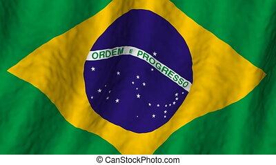 brésil, faire boucle, fond, drapeau