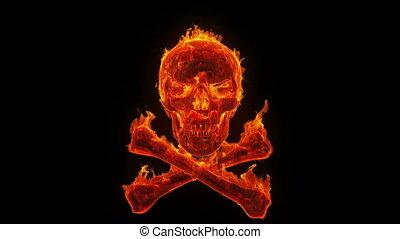 brûlé, crâne crâne