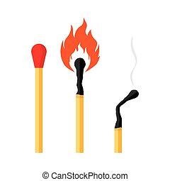 brûler, allumette