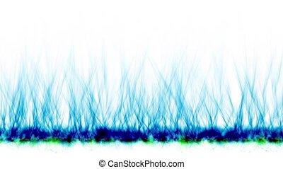 brûler, bleu, magnétique, field., lignes