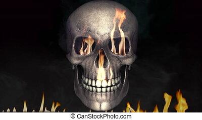 brûler, brûlé, crâne