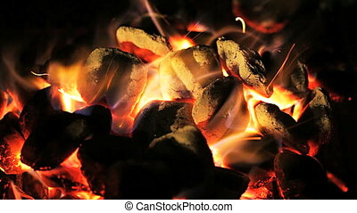 brûler, charbon de bois