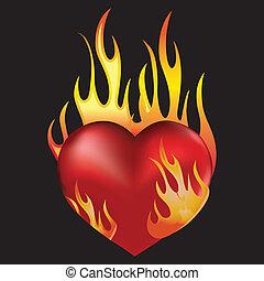 brûler, coeur
