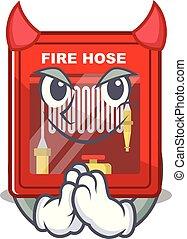 brûler, dessin animé, forme, diable, cabinet, tuyau