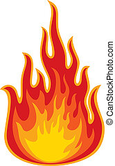 brûler, (flame)