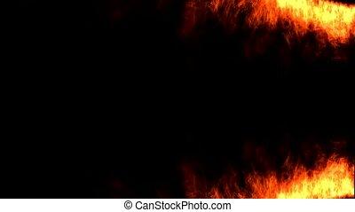 brûler, flamme, animation