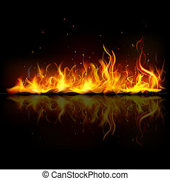 brûler, flamme, brûlé
