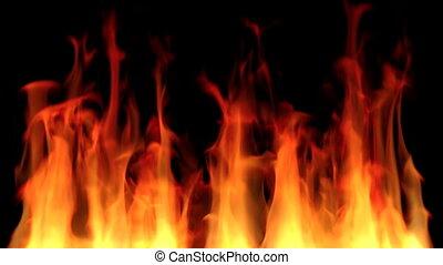 brûler, fond, boucle