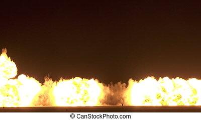 brûler, grand, explosion