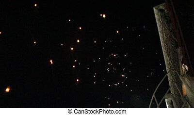 brûler, kr, pendant, flotter, loy, lanterne
