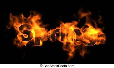 brûler, printemps, word.