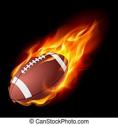 brûler, réaliste, football américain
