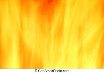 brûler, résumé, fond jaune