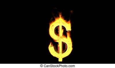 brûler, signe., dollar