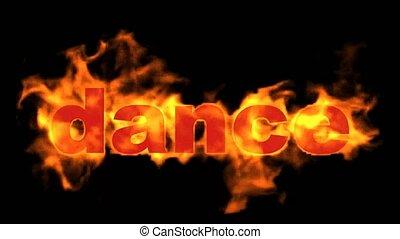 brûler, text., mot, brulure, danse