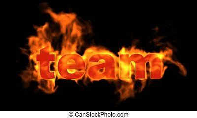 brûler, texte, business, words., clã©, équipe
