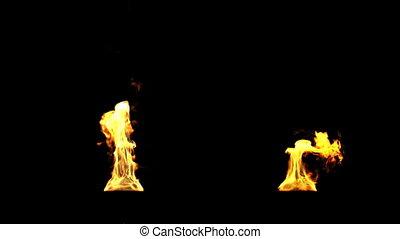 brûler, torches, hd