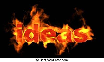 brûler, word., idées