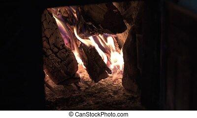 brûlures, house., cheminée, chaleur, bois brûler