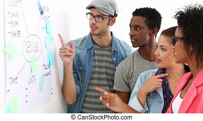 brain-storming, ensemble, équipe, créatif
