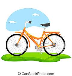 branché, vélo