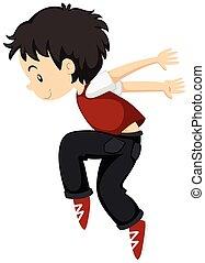 breakdance, seul, garçon