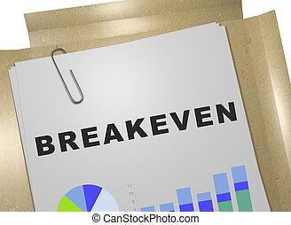 breakeven, -, concept, financier