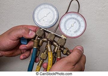 bricoleur, réparateur, hvac, outils