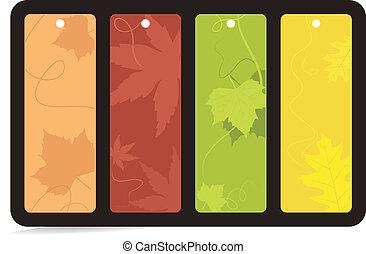 brillamment, ensemble, ba, automne, 4, coloré