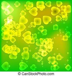 brillamment, lumière, magique, texture, procès, vert, style., carte