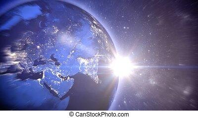 """brillant, tourner, tout, espace, océans, """"the, mondiale, continents, cities"""""""